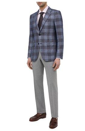 Мужские кожаные пенни-лоферы SANTONI коричневого цвета, арт. MCQU13207LA3S0RMC45 | Фото 2 (Стили: Классический; Материал внутренний: Натуральная кожа)