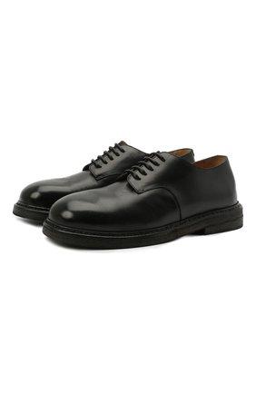 Мужские кожаные дерби MARSELL черного цвета, арт. MM3110/PELLE VITELL0 | Фото 1