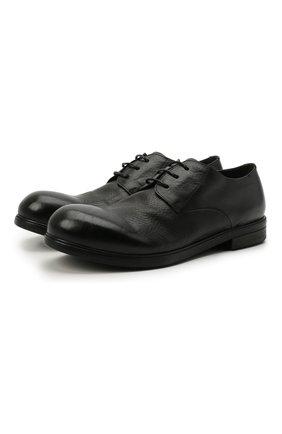 Мужские кожаные дерби MARSELL черного цвета, арт. MM2443/PELLE V0L0NATA | Фото 1