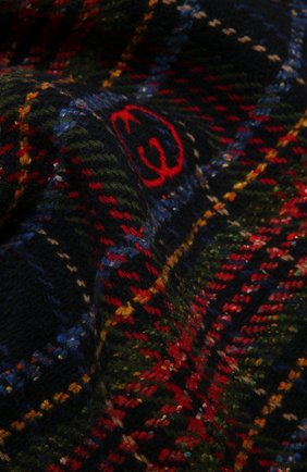 Мужской шарф из шерсти и шелка GUCCI разноцветного цвета, арт. 643208/4GAAB | Фото 2 (Материал: Шерсть; Кросс-КТ: шерсть)