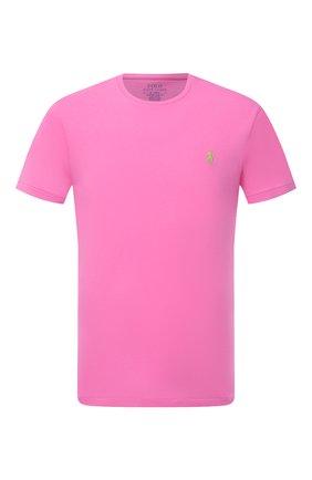 Мужская хлопковая футболка POLO RALPH LAUREN розового цвета, арт. 710671438 | Фото 1