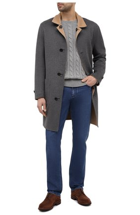 Мужской хлопковый свитер POLO RALPH LAUREN серого цвета, арт. 710775885 | Фото 2 (Стили: Кэжуэл; Рукава: Длинные; Длина (для топов): Стандартные; Материал внешний: Хлопок; Принт: Без принта)