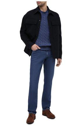 Мужской хлопковый свитер POLO RALPH LAUREN синего цвета, арт. 710775885   Фото 2