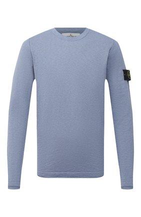 Мужской хлопковый джемпер STONE ISLAND синего цвета, арт. 7415502B0 | Фото 1