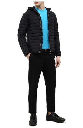 Мужской хлопковый джемпер STONE ISLAND бирюзового цвета, арт. 7415502B0 | Фото 2