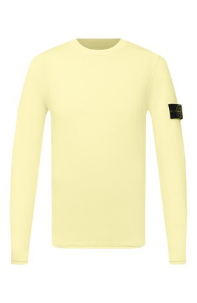 Мужской хлопковый джемпер STONE ISLAND желтого цвета, арт. 7415502B0   Фото 1