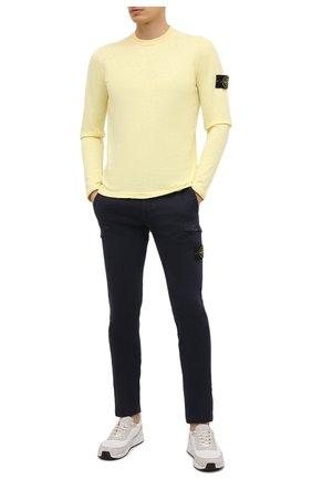 Мужской хлопковый джемпер STONE ISLAND желтого цвета, арт. 7415502B0   Фото 2