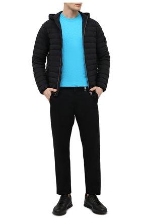 Мужская пуховая куртка STONE ISLAND черного цвета, арт. 741544525 | Фото 2