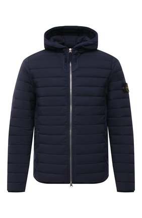 Мужская пуховая куртка STONE ISLAND темно-синего цвета, арт. 741544525 | Фото 1