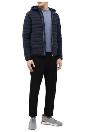 Мужская пуховая куртка STONE ISLAND темно-синего цвета, арт. 741544525 | Фото 2