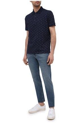 Мужское хлопковое поло PAUL&SHARK синего цвета, арт. 21411235/C00 | Фото 2