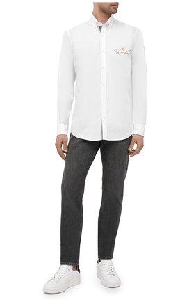 Мужская комплект из рубашки и маски PAUL&SHARK белого цвета, арт. 21413464/C00 | Фото 2