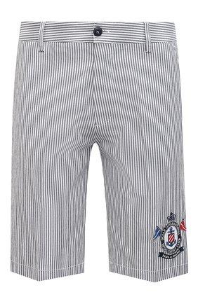 Мужские хлопковые шорты PAUL&SHARK серого цвета, арт. 21414060/F0M | Фото 1