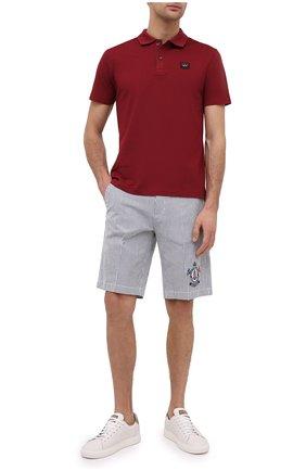 Мужские хлопковые шорты PAUL&SHARK серого цвета, арт. 21414060/F0M | Фото 2