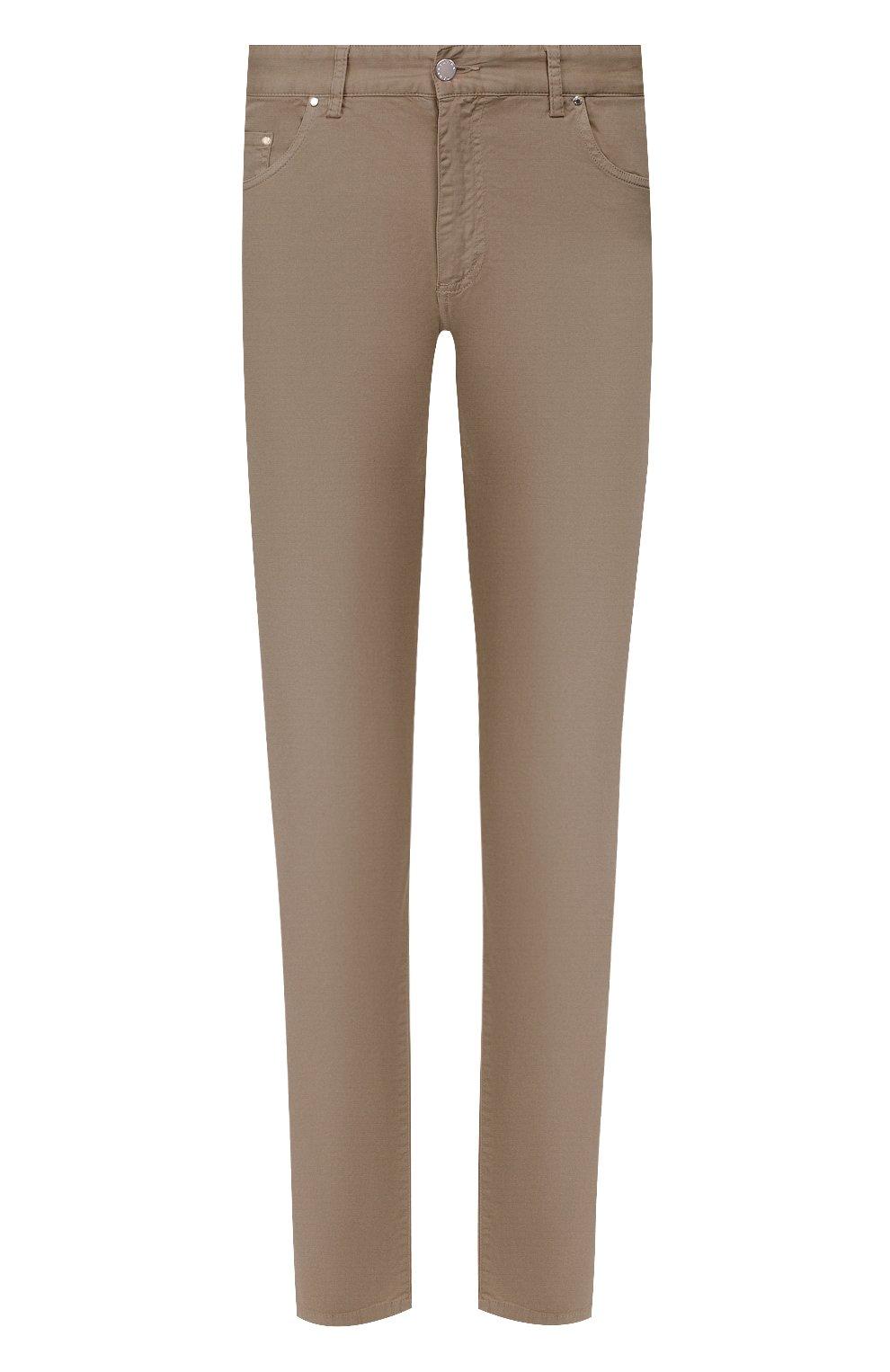 Мужские хлопковые брюки PAUL&SHARK светло-коричневого цвета, арт. C0P4001/FEF   Фото 1
