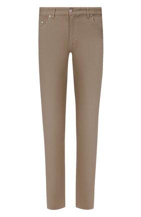 Мужские хлопковые брюки PAUL&SHARK светло-коричневого цвета, арт. C0P4001/FEF | Фото 1