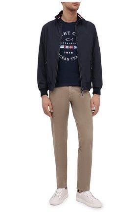 Мужские хлопковые брюки PAUL&SHARK светло-коричневого цвета, арт. C0P4001/FEF | Фото 2