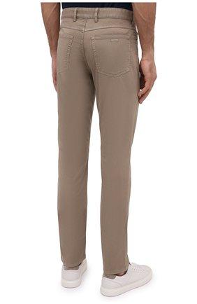 Мужские хлопковые брюки PAUL&SHARK светло-коричневого цвета, арт. C0P4001/FEF   Фото 4