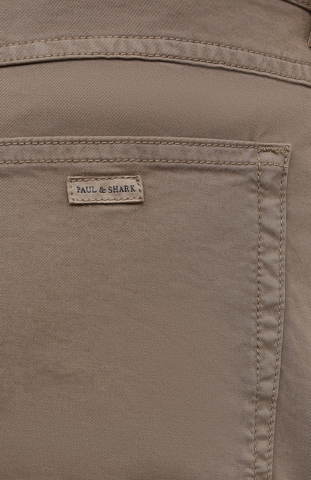 Мужские хлопковые брюки PAUL&SHARK светло-коричневого цвета, арт. C0P4001/FEF   Фото 5