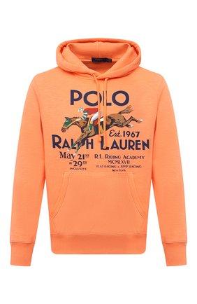Мужской хлопковое худи POLO RALPH LAUREN оранжевого цвета, арт. 710823537 | Фото 1