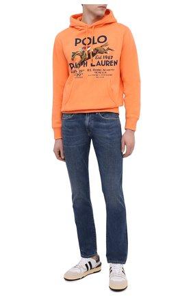 Мужской хлопковое худи POLO RALPH LAUREN оранжевого цвета, арт. 710823537 | Фото 2