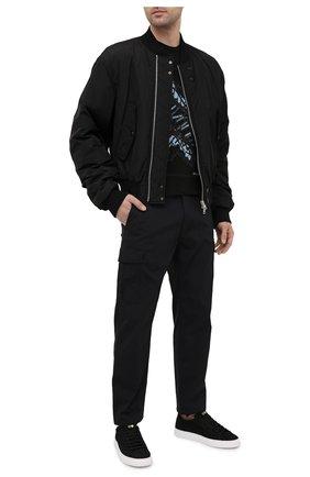Мужские замшевые кеды HIDE&JACK черного цвета, арт. CR0LBLKWHT | Фото 2