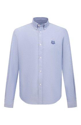 Мужская хлопковая рубашка KENZO синего цвета, арт. FB55CH4001LD | Фото 1