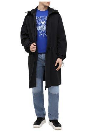 Мужской хлопковый свитшот KENZO синего цвета, арт. FB55SW1104XA | Фото 2