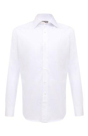 Мужская хлопковая сорочка CANALI белого цвета, арт. 705/GA01243 | Фото 1