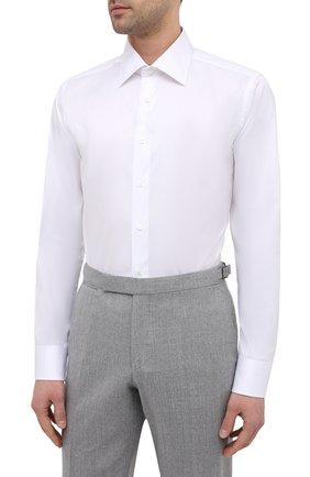 Мужская хлопковая сорочка CANALI белого цвета, арт. 705/GA01243 | Фото 3