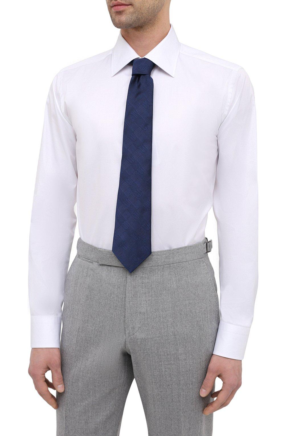 Мужская хлопковая сорочка CANALI белого цвета, арт. 705/GA01243 | Фото 4