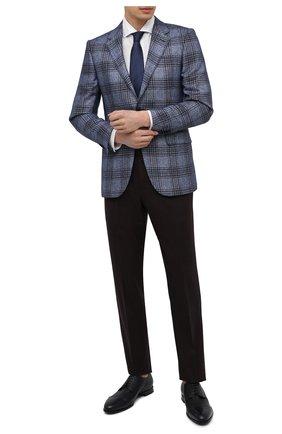 Мужские кожаные дерби BARRETT темно-синего цвета, арт. B111U016.8/CERV0 ASP0RTABILE | Фото 2