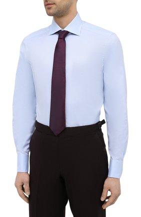 Мужская хлопковая сорочка ERMENEGILDO ZEGNA голубого цвета, арт. 903902/9MS4BA | Фото 4