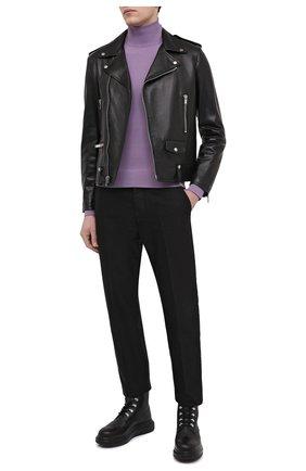 Мужские кожаные ботинки ALEXANDER MCQUEEN черного цвета, арт. 645906/WHWX1 | Фото 2
