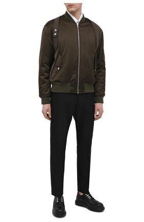 Мужские кожаные дерби ALEXANDER MCQUEEN черного цвета, арт. 645905/WHWX1 | Фото 2
