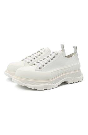 Мужские кожаные кроссовки ALEXANDER MCQUEEN белого цвета, арт. 627225/WHZ62 | Фото 1