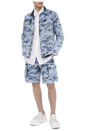 Мужские кожаные кроссовки ALEXANDER MCQUEEN белого цвета, арт. 627225/WHZ62 | Фото 2 (Стили: Гранж; Подошва: Массивная; Материал внутренний: Натуральная кожа)