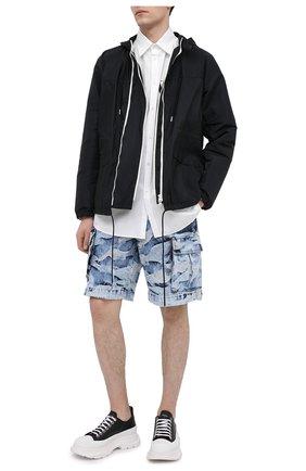 Мужские кожаные кроссовки ALEXANDER MCQUEEN черно-белого цвета, арт. 627225/WHZ62 | Фото 2 (Подошва: Массивная; Материал внутренний: Натуральная кожа; Стили: Гранж)