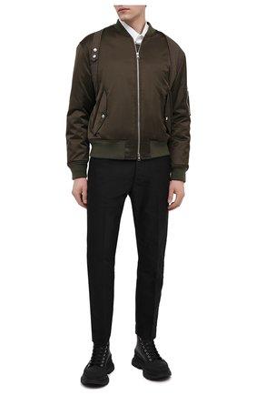 Мужские кожаные ботинки ALEXANDER MCQUEEN черного цвета, арт. 627206/WHZ62 | Фото 2