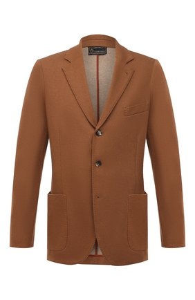 Мужской пиджак из шерсти и кашемира LORO PIANA темно-бежевого цвета, арт. FAF5307/VVIC | Фото 1