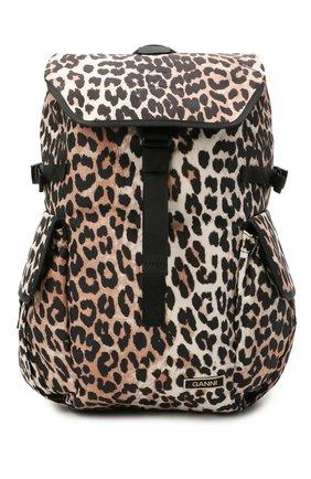 Женский рюкзак GANNI коричневого цвета, арт. A2904 | Фото 1