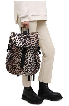 Женский рюкзак GANNI коричневого цвета, арт. A2904 | Фото 2