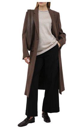 Женский хлопковый пуловер BRUNELLO CUCINELLI золотого цвета, арт. M74767400 | Фото 2