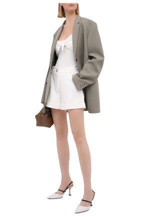 Женские хлопковые шорты BALMAIN белого цвета, арт. VF15010/C208   Фото 2