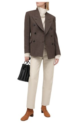 Женские кожаные ботильоны LOEWE светло-коричневого цвета, арт. L815286X04 | Фото 2
