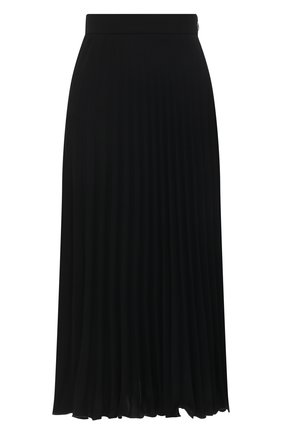 Женская плиссированная юбка MM6 черного цвета, арт. S52MA0128/S43455 | Фото 1