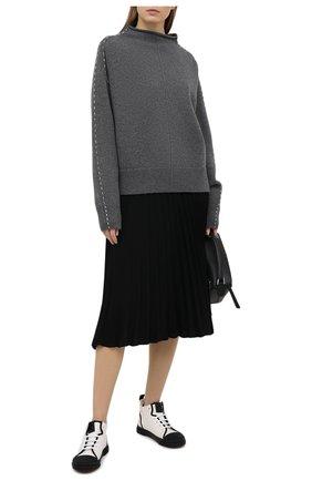 Женская плиссированная юбка MM6 черного цвета, арт. S52MA0128/S43455 | Фото 2