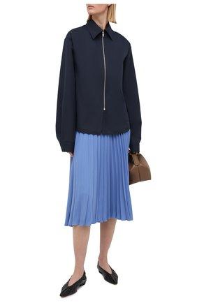 Женская плиссированная юбка MM6 голубого цвета, арт. S52MA0128/S43455 | Фото 2