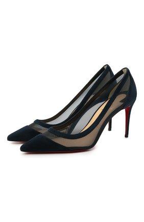 Женские комбинированные туфли galativi 85 CHRISTIAN LOUBOUTIN синего цвета, арт. 1200724/GALATIVI 85 | Фото 1