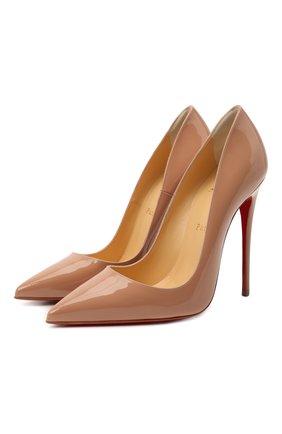 Женские кожаные туфли so kate 120 CHRISTIAN LOUBOUTIN бежевого цвета, арт. 3130694/S0 KATE 120 | Фото 1